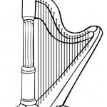 Instrumentos de música clásica para colorear