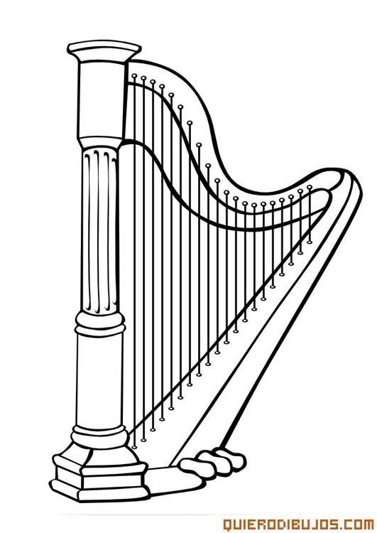 Instrumentos de música clásica para colorear | Colorear imágenes