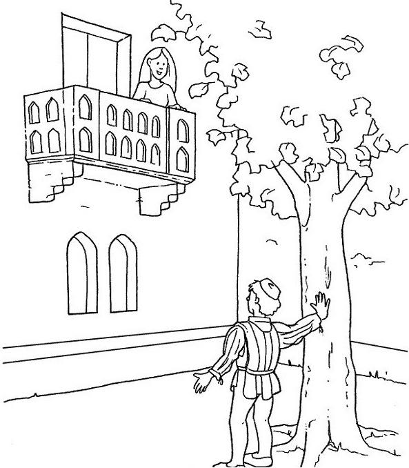Dibujos De Romeo Y Julieta Para Pintar