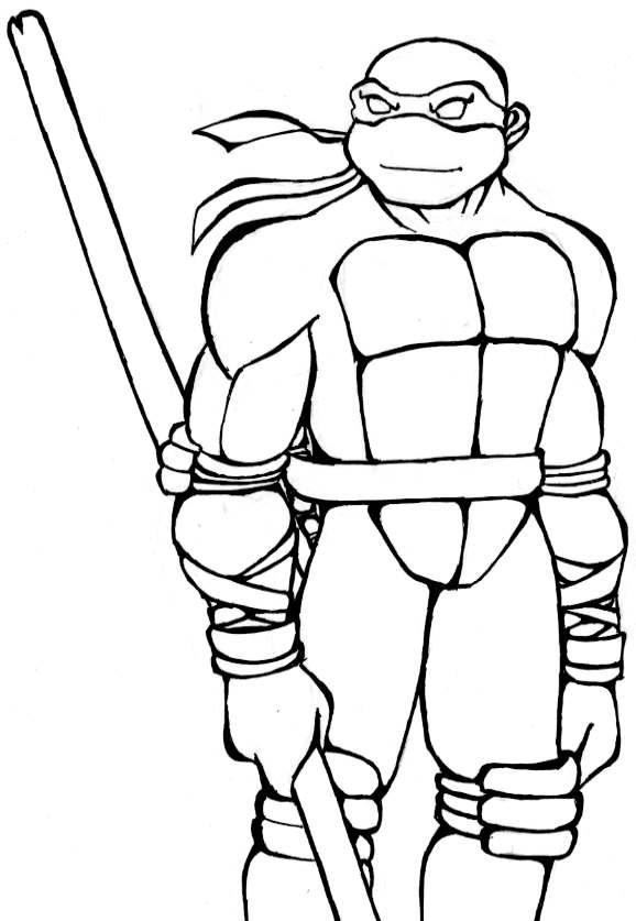 Dibujos Divertidos De Las Tortugas Ninjas Para Colorear Descarga
