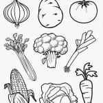 Dibujos de verduras para imprimir y colorear