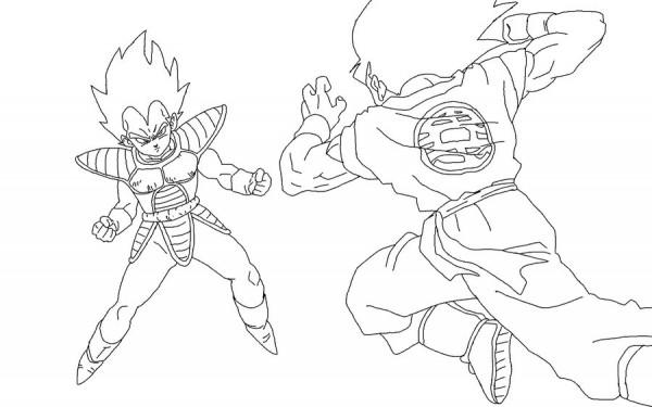 Vegeta_Vs_Goku_Lineart_by_RuokDbz98