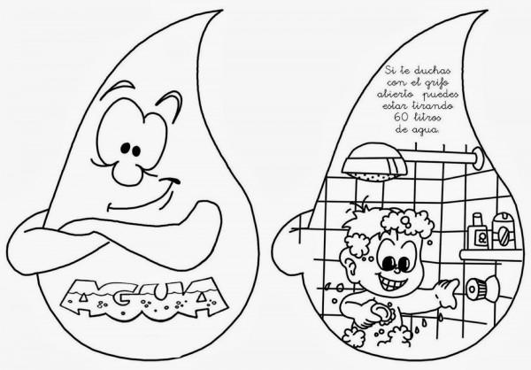 Dibujos del cuidado del agua para colorear el 22 de marzo Día ...