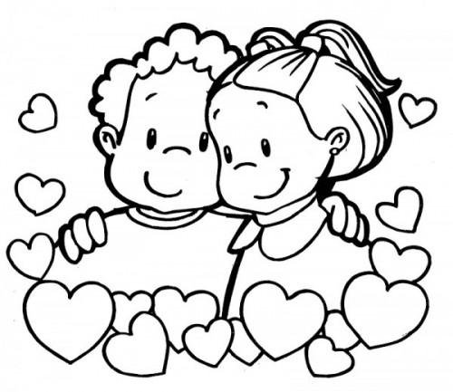 Dibujos Para Colorear De Amor Y Amistad Colorear Imágenes
