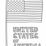 14 de junio – Día de la Bandera de Estados Unidos para pintar