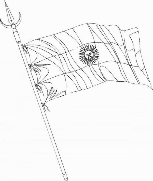 Dibujos De La Bandera Nacional Argentina Con Mástil Para