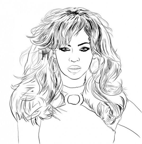 caricaturabeyonce-desenho-colorir