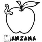 Dibujos infantiles de frutas fáciles para colorear