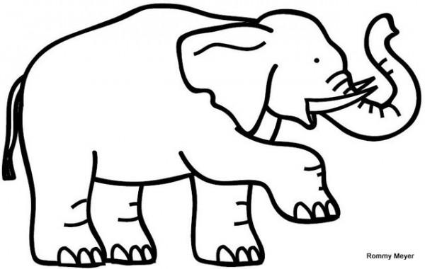 22 dibujos de elefantes tiernos para colorear: Elefantes de circo