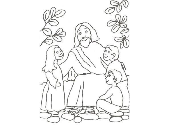jesus-con-los-ninos-para-colorear