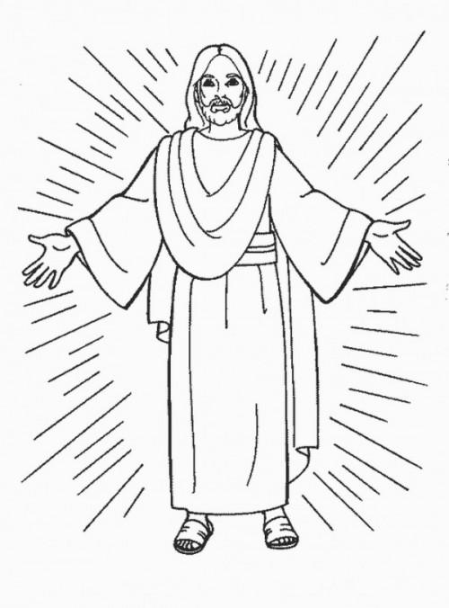 Dibujos De Jesús Para Imprimir Y Colorear Colorear Imágenes