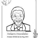 Dibujos de Nelson Mandela para imprimir y pintar