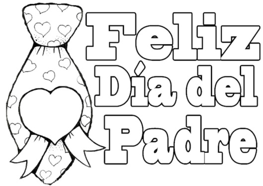 dibujos de fel u00edz d u00eda pap u00e1 para imprimir y pintar  feliz