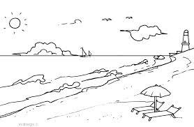 Dibujos De Playa Paisajes De La Costa Para Colorear Pintar