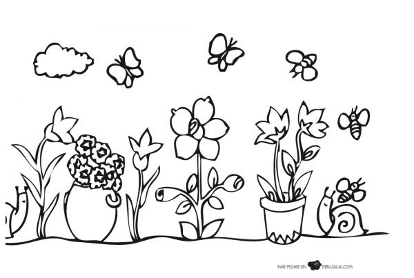 Dibujos Para Colorear Paisajes Naturales: Paisajes Naturales Para Imprimir Y Pintar