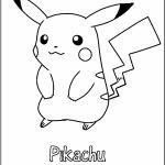 Dibujos de Pikachu para colorear