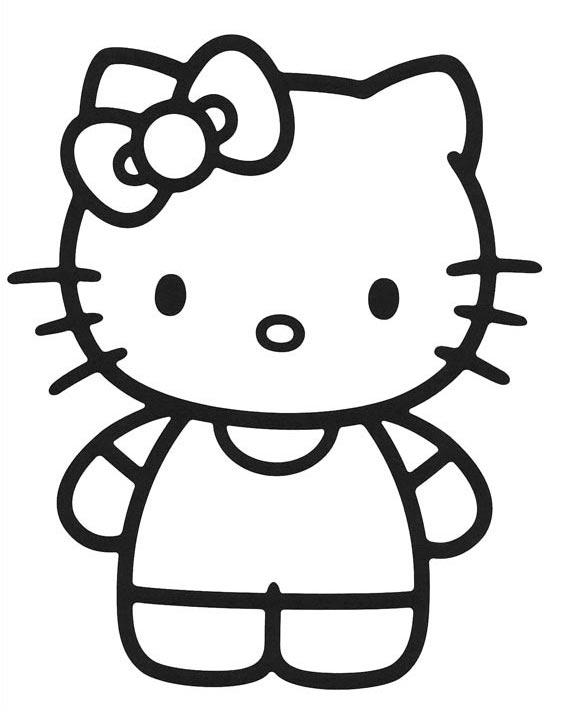 Fotos De Hello Kitty Para Colorear Colorear Imágenes
