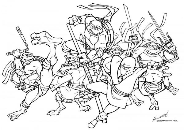 Im 225 Genes De Las Tortugas Ninja Para Colorear Colorear