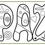 Carteles con la palabra Paz para colorear
