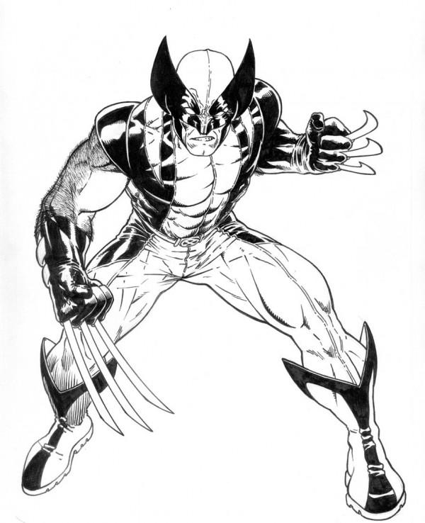 Wolverine-para-pintar-e-colorir