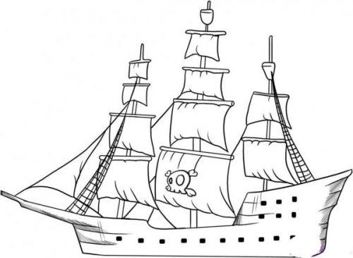 Barcos De Piratas Para Colorear Colorear Imágenes