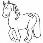 Dibujos de caballos fáciles para colorear
