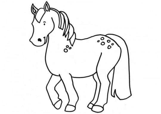 Dibujos de caballos fáciles para colorear | Colorear imágenes