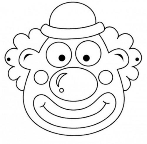 Máscaras De Personajes De Circo Para Pintar Colorear Imágenes