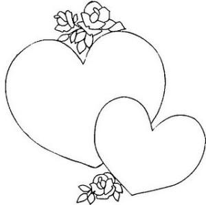 Dibujos De Corazones Con Rosas Para Imprimir Y Colorear Colorear