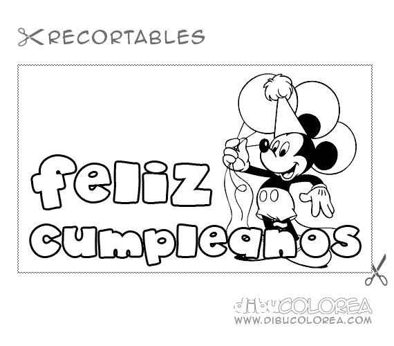 Felíz Cumpleaños – Dibujos para descargar, imprimir y colorear ...