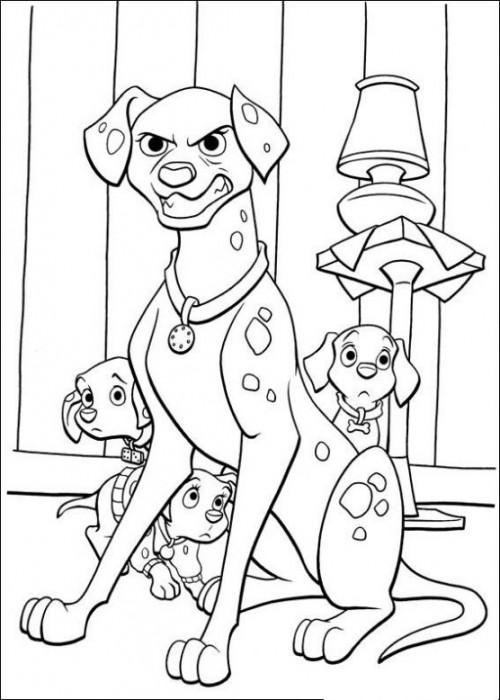 dalcolorear-pongo-defiende-a-sus-cachorros-dibujos-infantiles