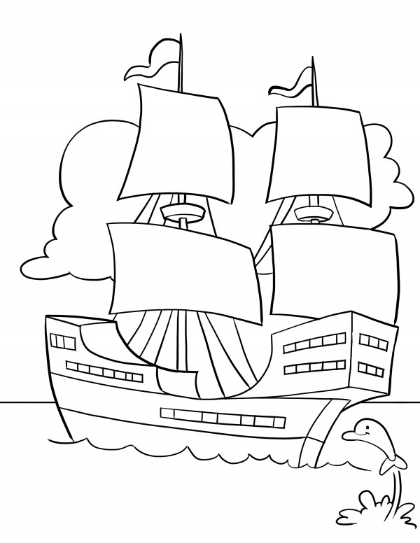 coloring pages mayflower pilgrims corn - photo#21