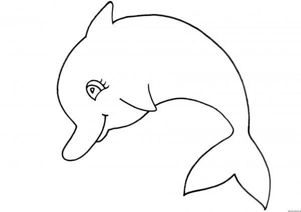 Im genes de delfines para pintar colorear im genes - Dibujos juveniles para imprimir ...