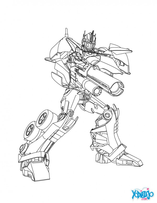 Dibujos de transformers para colorear colorear im genes - Dessin optimus prime ...