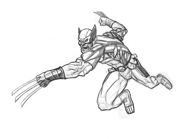 X Men Para Colorear: Imágenes De Wolverine Para Pintar