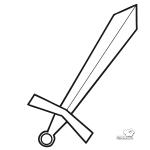 Imágenes de espadas para pintar
