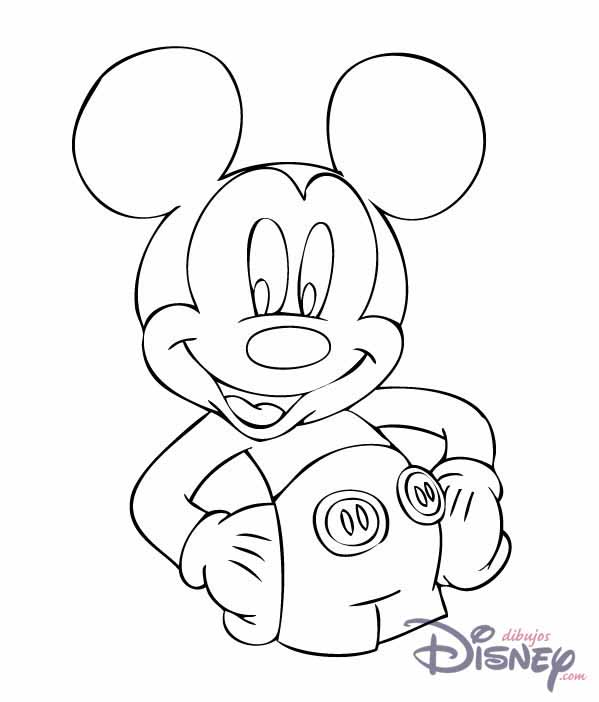 Fotos de mickey mouse para pintar colorear im genes - Minnie y mickey bebes para colorear ...