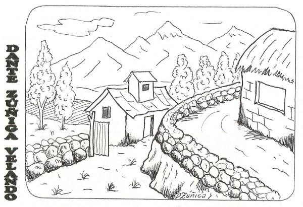Bonitos paisajes para imprimir y colorear | Dibujos para colorear