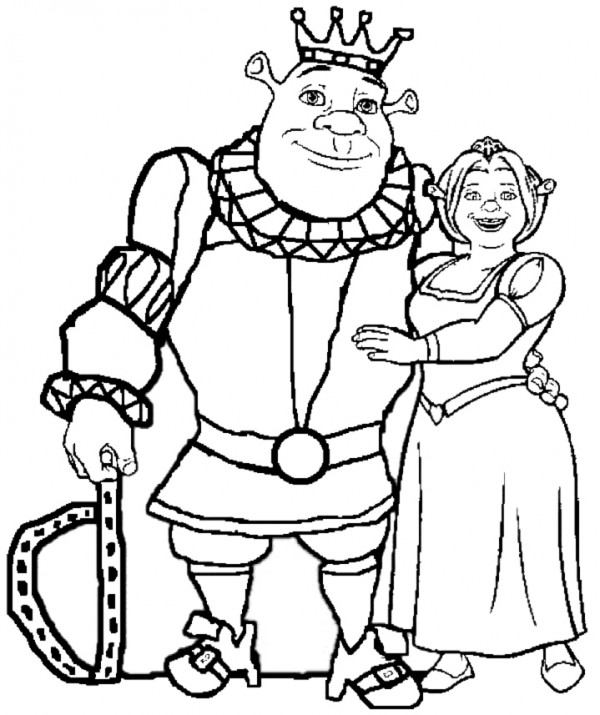 Dibujos de Fiona y Shrek para imprimir y pintar | Colorear imágenes