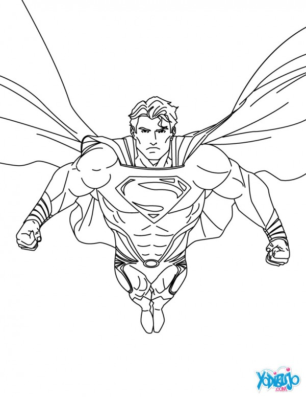 Im genes animadas de superman para pintar colorear im genes - Superman dessin ...