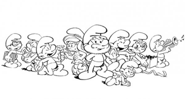 Dibujos De Los Pitufos Para Colorear Pitufos Imprimir Gratis: Los Pitufos, Imágenes Para Colorear