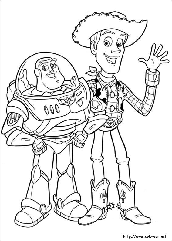 Im genes para pintar de Toy Story
