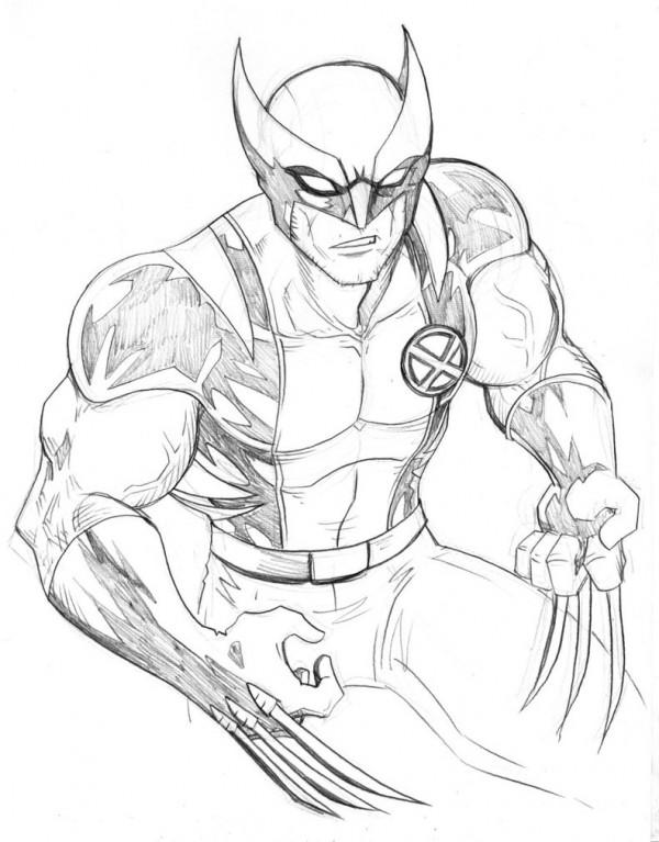 Im genes de Wolverine para pintar Colorear im genes