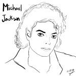 Caricaturas de Michael Jackson para colorear