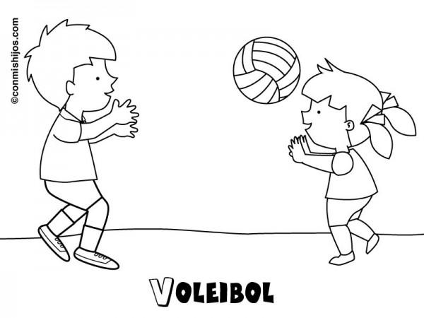 Imágenes para pintar de voleibol | Colorear imágenes