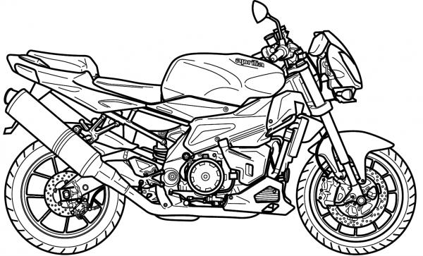 Colorir-moto-potente