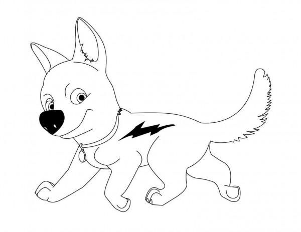 Dibujos-de-Bolt-para-colorear