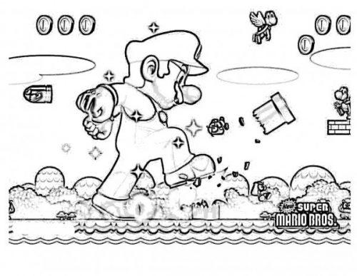 Imagenes De Mario Bross Para Pintar Colorear Imagenes