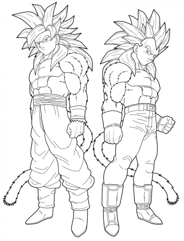 Im genes para colorear de dragon ball z muy originales - Dessin de vegeta ...