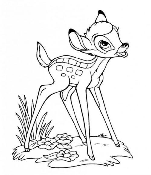 Imágenes Dulces De Bambi De Walt Disney Para Pintar Colorear Imágenes